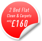 2 Bed Flat Carpet Cleaning and Clean Offer
