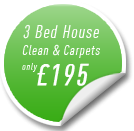 3 Bed House Carpet Cleaning and Clean Offer Hampshire