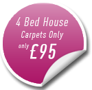 4 Bed House Carpet Cleaning Offer